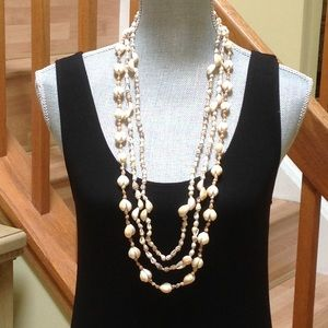 Vintage  natural shell 3 in one necklace